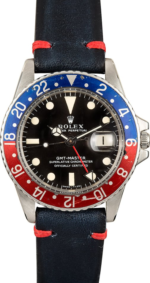 1967 Rolex Vintage GMT 1675 Faded Pepsi