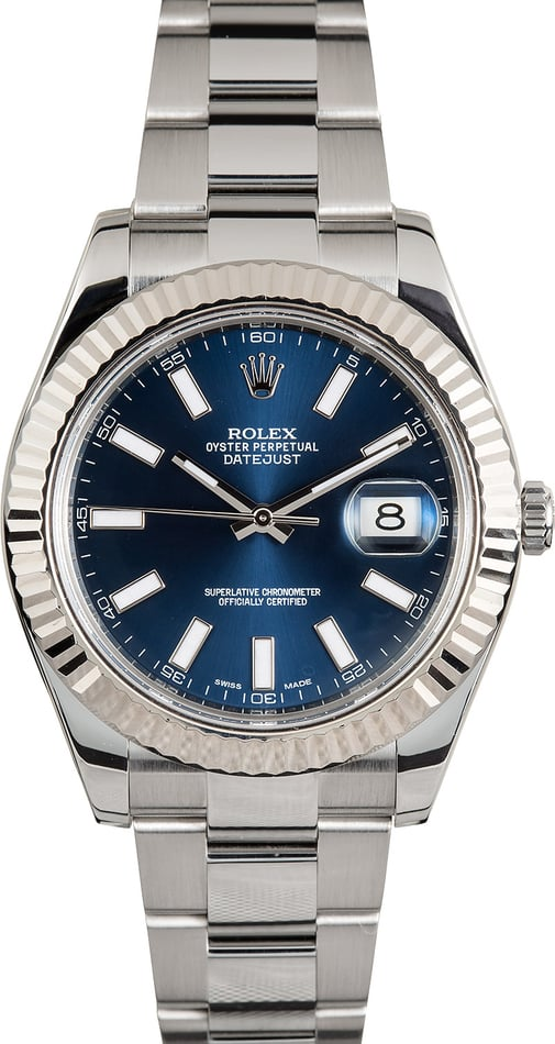 Rolex Datejust II 116334BLSO 18K White Gold