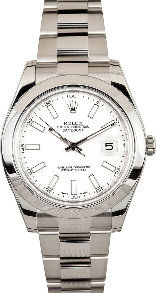 Rolex Datejust II 116300 White