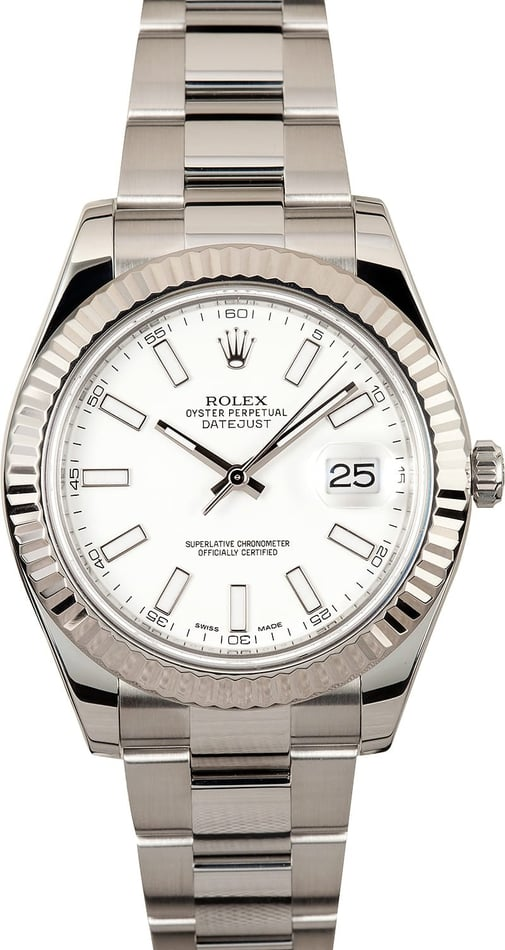 Rolex DateJust II 41MM White Dial 116334