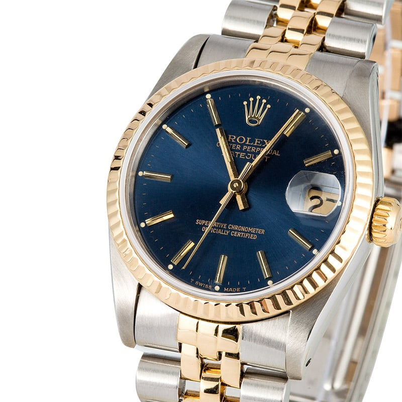 Men's or Ladies Rolex Datejust Midsize Watch 68273
