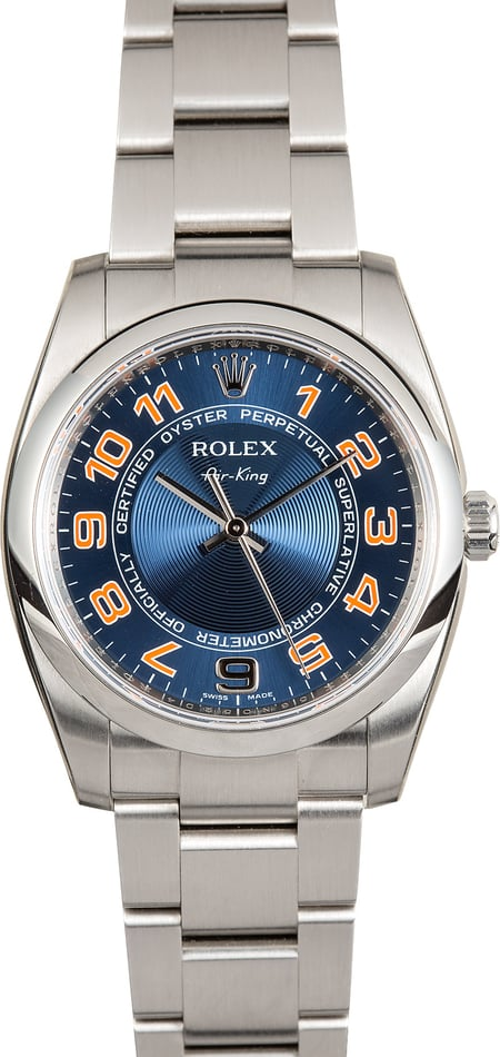 Rolex Air King 114200 Blue Concentric