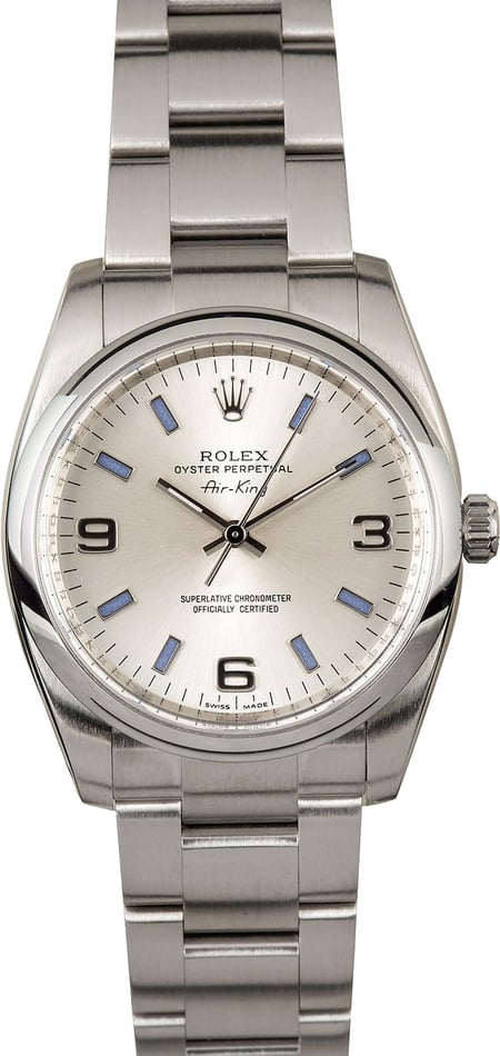 Rolex Air-King 114200 Blue Markers