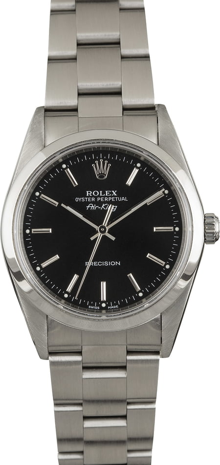 PreOwned Rolex AirKing 14000 Black Dial