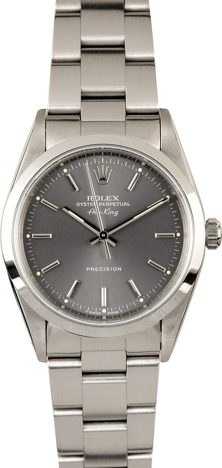 Rolex Air-King 14000 Stainless Steel 100% Authentic
