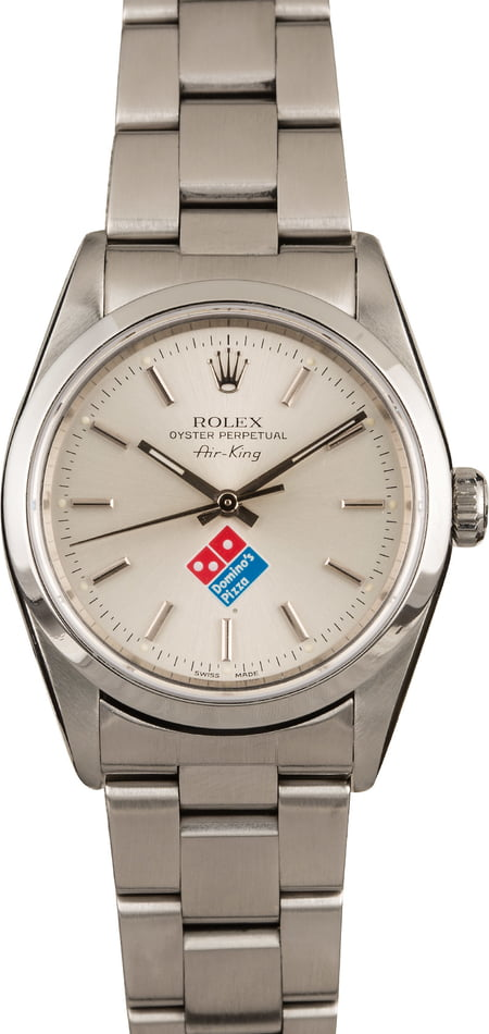 PreOwned Rolex Air King 14000M Domino's Dial