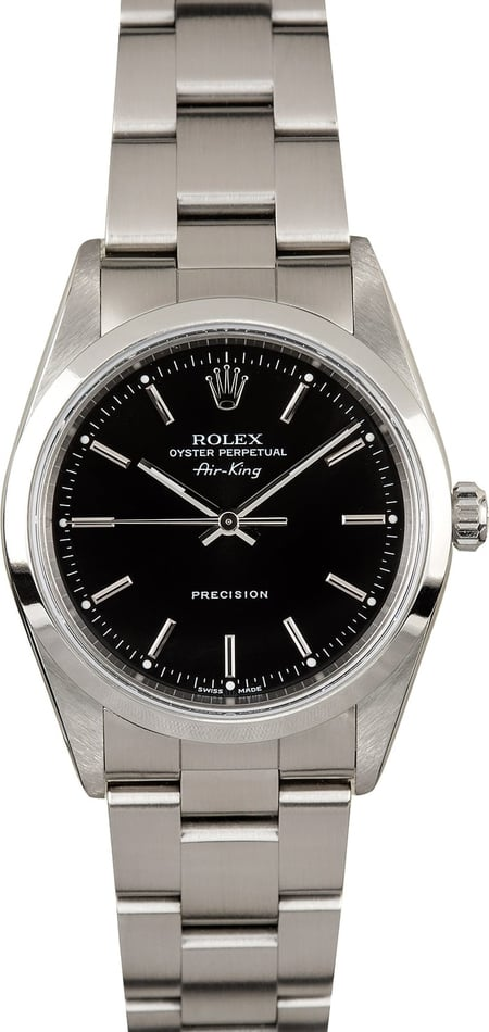 Rolex Air King 14000M Black Index - Certified Pre-owned