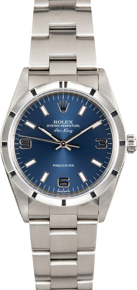 Rolex Air-King 14010 Stainless Steel Blue