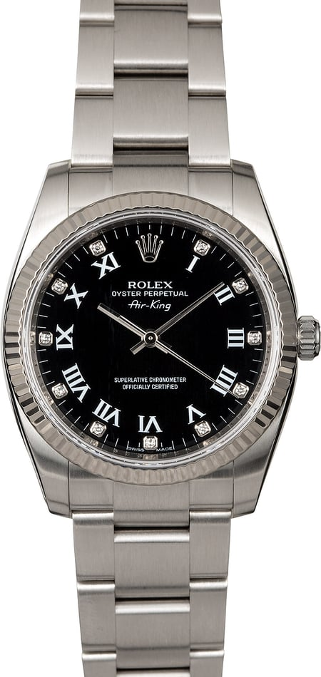 Rolex Air-King 114234 Black Diamond Dial