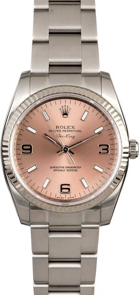 Rolex Air-King 114234 Salmon Dial