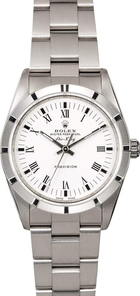 Pre-Owned Rolex Air King 14010 White Dial