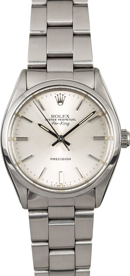 Rolex Air-King 5500 Silver Index Dial