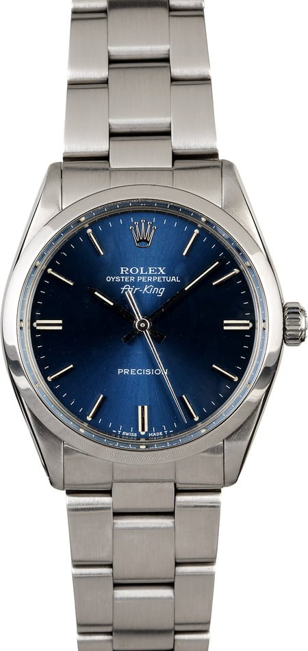 Certified Rolex Air-King 5500 Blue Dial