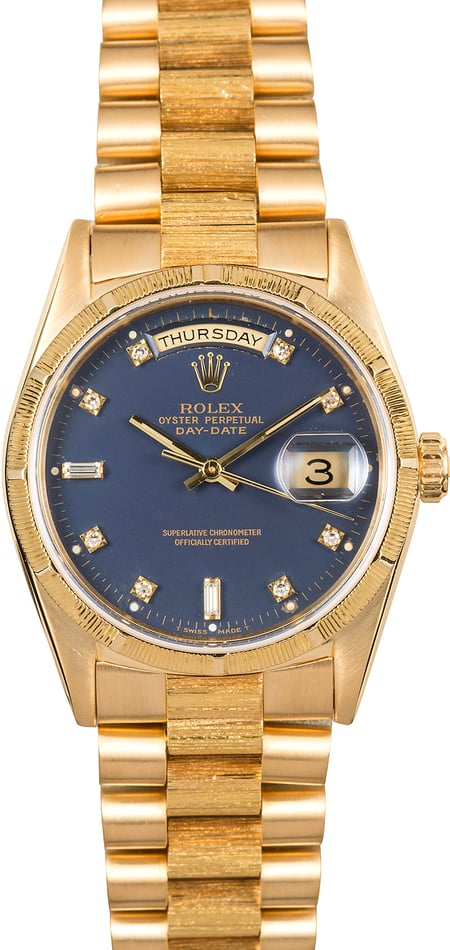 Rolex Bark President 18248 Diamond Dial