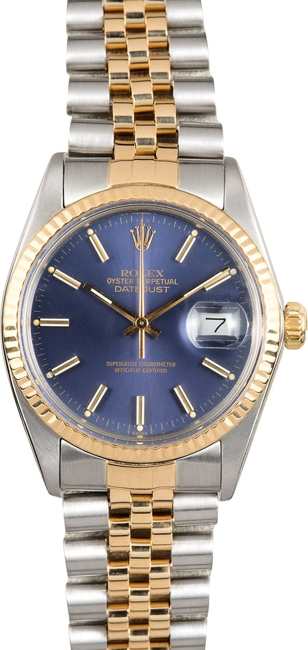 Rolex Datejust 16013 Two-Tone Blue Dial