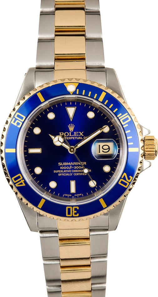 Rolex Steel and Gold Submariner 16613