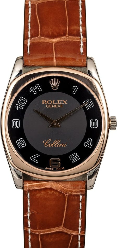 Rolex Cellini 4233 Black Arabic Dial