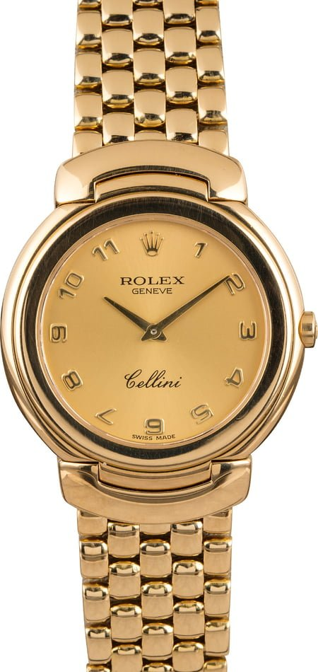 PreOwned Rolex Cellini 6622 Yellow Gold Watch T