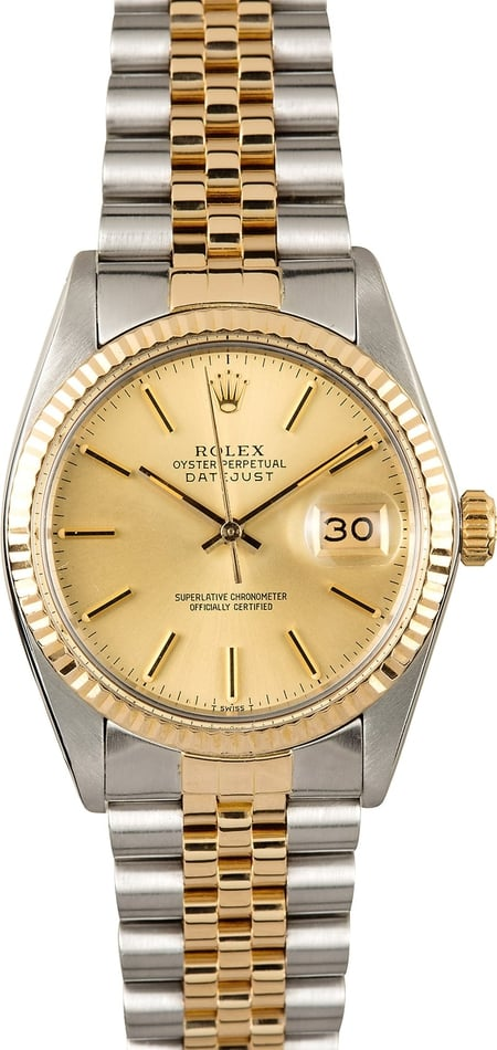 Rolex Datejust 16233 Champagne 100% Authentic