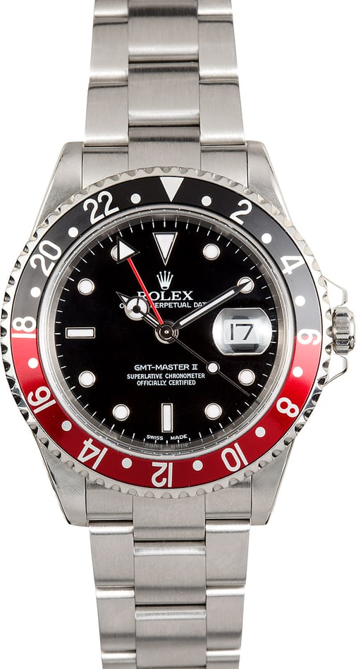 Rolex Coke GMT Master II 16710 Red/Black Bezel