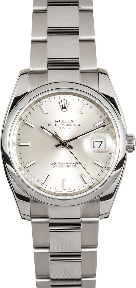 Rolex Date 115200 Certified Pre-Owned