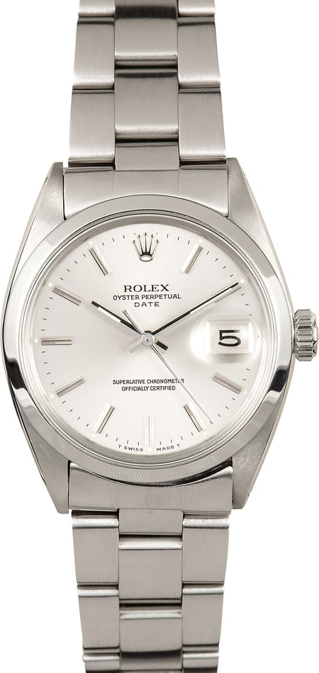 Rolex Date 1500 Stainless