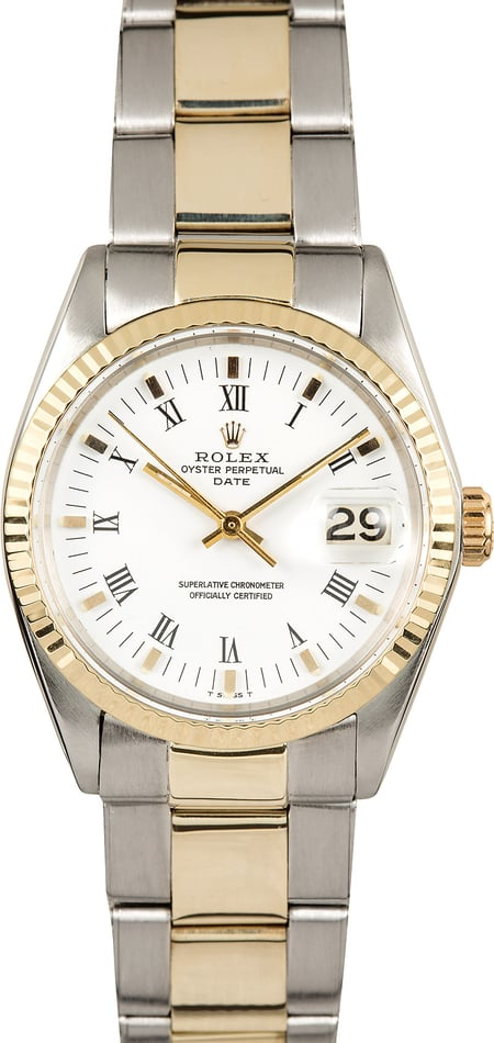 Rolex Date 1500 Two Tone Oyster