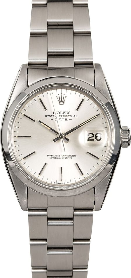 Men's Rolex Date 1501 Stainless Steel