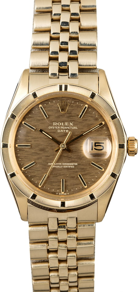 Rolex Date 1501 Yellow Gold Watch
