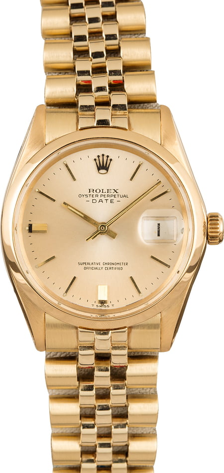 Used Rolex Yellow Gold Date 1501