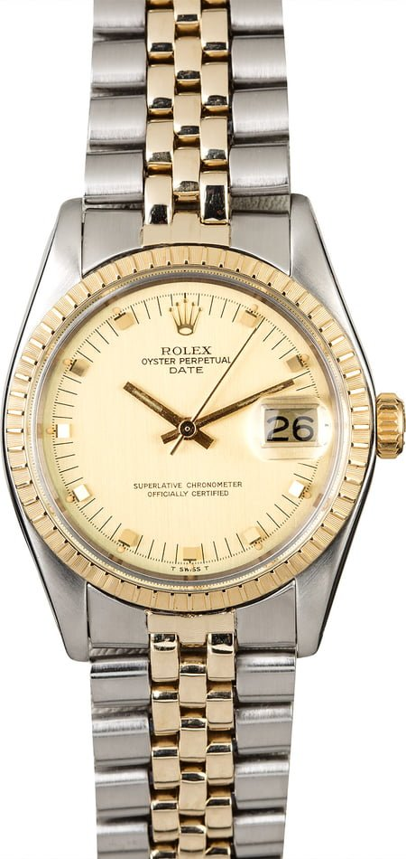 PreOwned Rolex Date 1505 Two Tone Jubilee