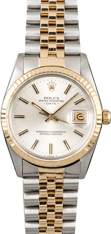 PreOwned Rolex Date 15053 Two Tone Jubilee
