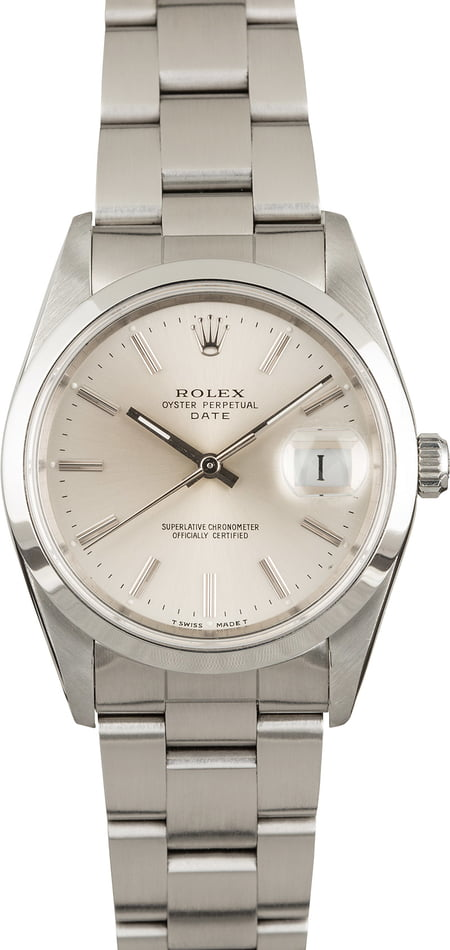 Used Rolex Date 15200 Silver Dial