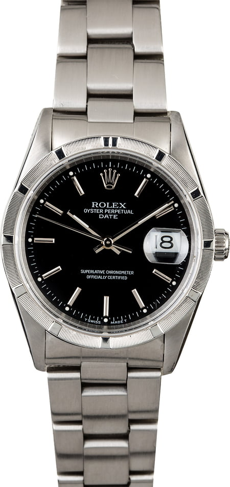 Used Rolex Date 15210 Black Dial