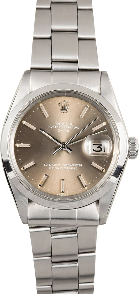 Rolex Date 34MM 1500 Stainless