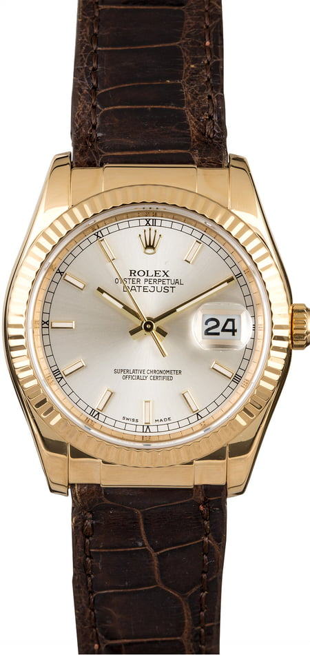 Rolex Datejust 116138 Silver Dial