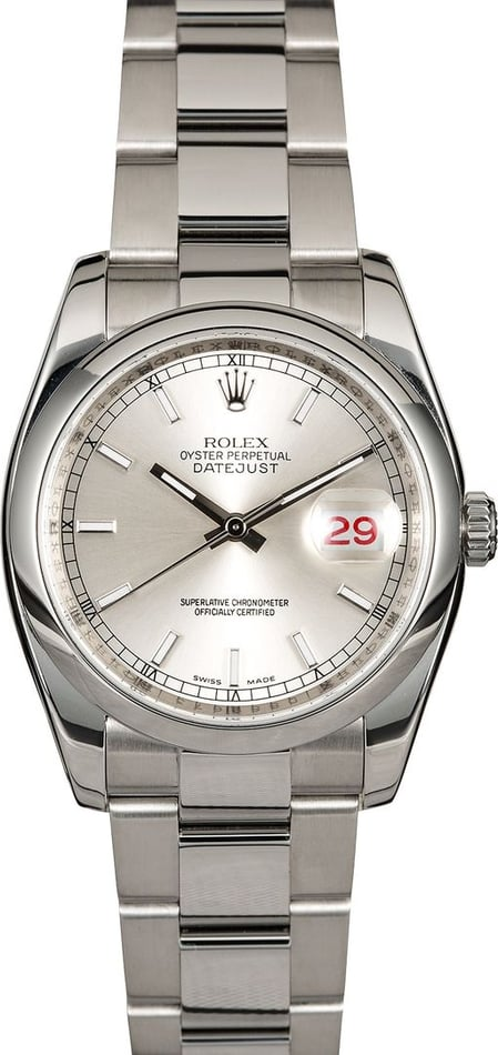 Rolex Datejust 116200 Stainless Steel