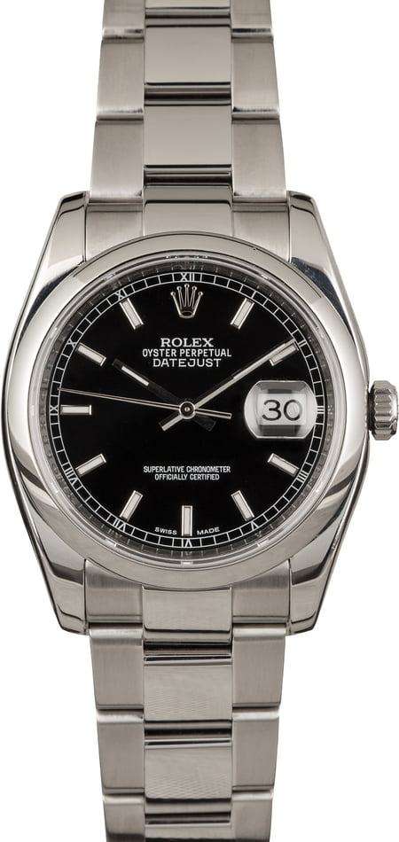 Used Rolex Datejust 116200 Black Dial