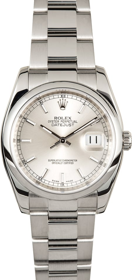 Rolex Datejust 116200 Silver Index Dial