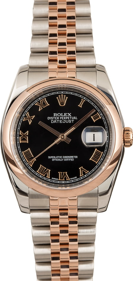 Used Rolex Datejust 116201 Two Tone Everose Gold