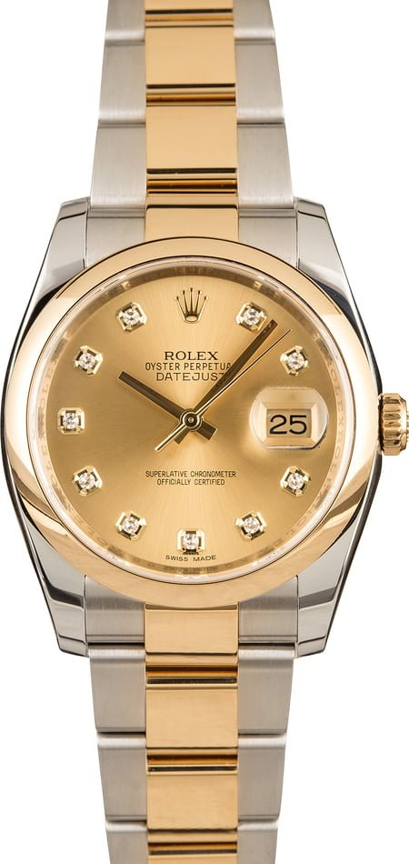 Pre-Owned Rolex Datejust 116203 Diamond Dial