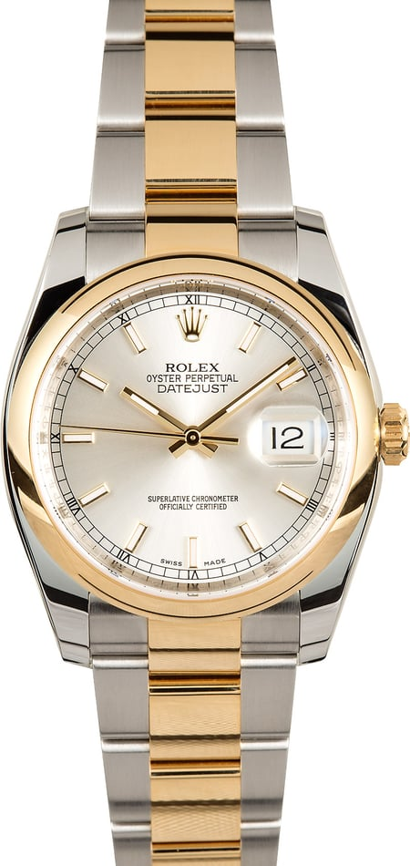 Rolex Datejust 116203 Silver Index Dial