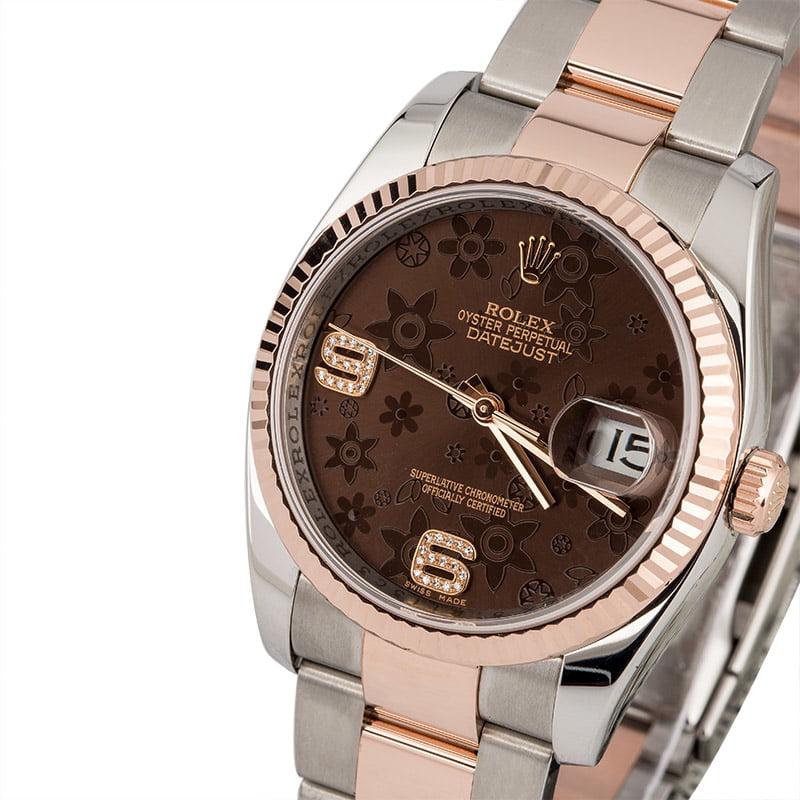 62daa4297b1 Rolex Datejust 116231 Bronze Floral Dial