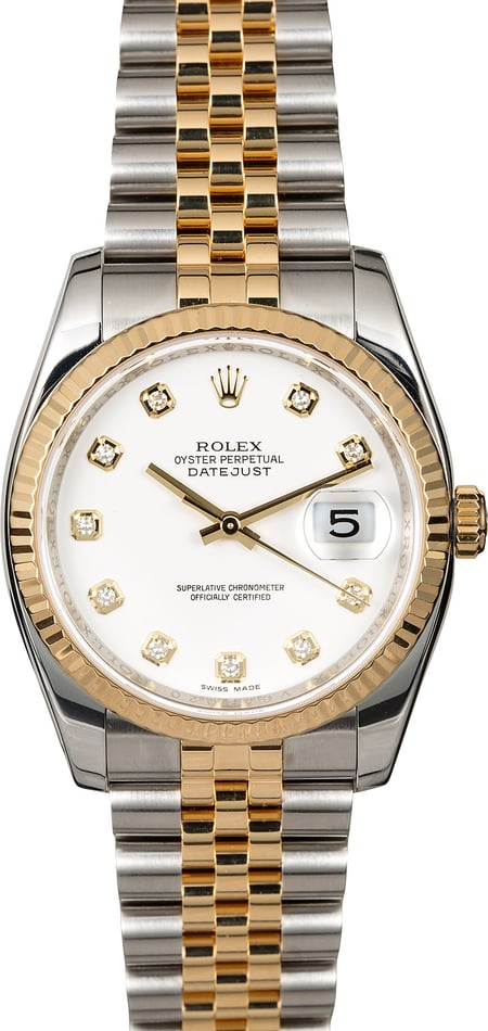 Rolex Datejust 116233 White Diamond Dial