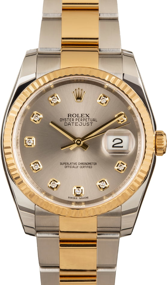 Rolex Datejust 116233 Diamond Dial 100% Authentic
