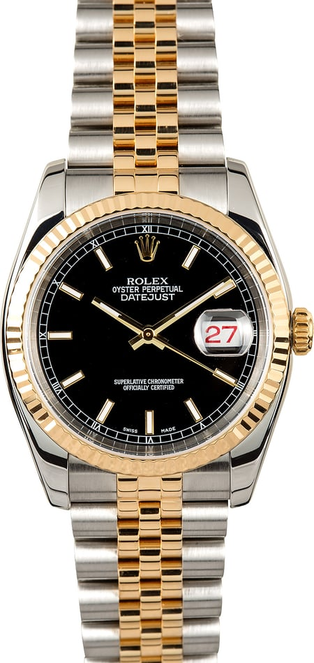 Rolex Datejust 116233 Black Index
