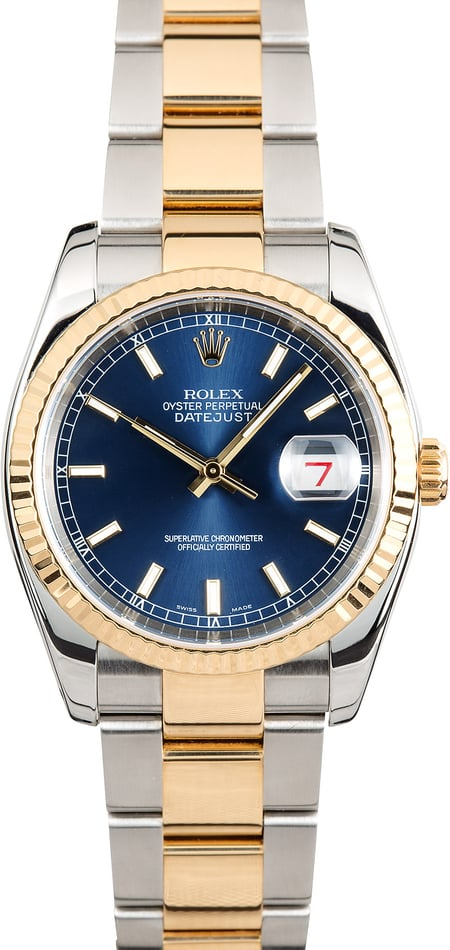 Rolex Datejust 116233 Blue Index