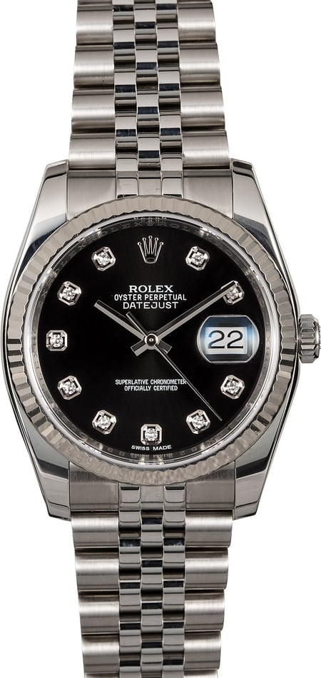 Rolex Datejust 116234 Black Diamond Dial