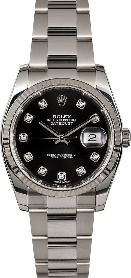 Men's Rolex Datejust 116234BKDO Black Dial