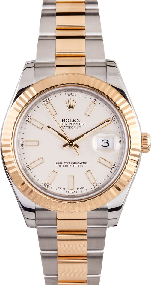 Rolex Datejust II Ivory Dial 116333